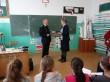 Lekcja bezpieczeństwa w szkole w Miękiszu Starym i Korzenicy